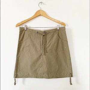 Columbia Olive Adventure Travel Skirt Sz S